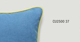 パイピングクッションカバー【40×40cm】 ブルー×イエロー CU2500-37