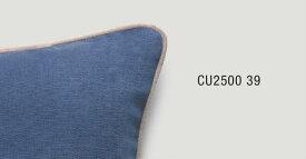 パイピングクッションカバー【40×40cm】 ダークブルー×ペールグレー CU2500-39
