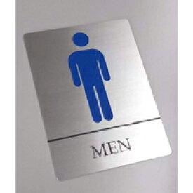 ステンレス トイレ サイン プレート ドアプレート(壁面等設置用両面粘着テープ付き)