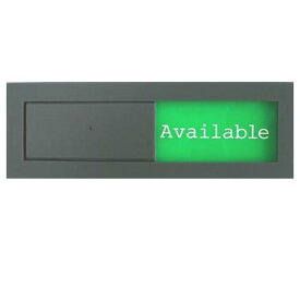 英語版 スライド式 サイン プレート ドアプレート 空室・使用中 (設置用両面粘着テープ付き)