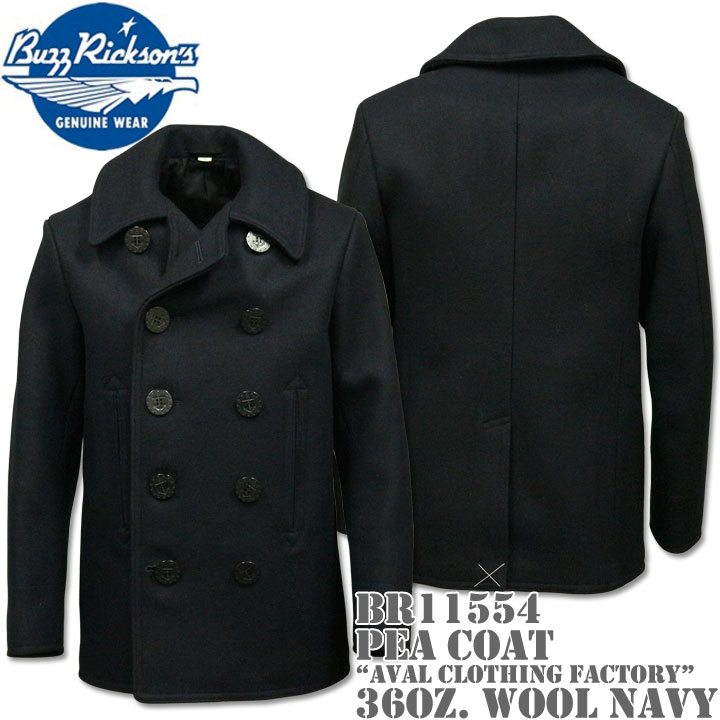 BUZZ RICKSON'S バズリクソンズType PEA COAT 36oz Wool NAVAL CLOTHING FACTORYBR11554