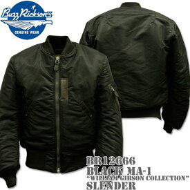 BUZZ RICKSON'S バズリクソンズ BLACK MA-1 SLENDER REGULAR WILLIAM GIBSON COLLECTION BR12666