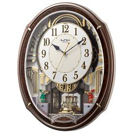 【北海道・沖縄・離島配送不可】4MN545RH23 電波からくり時計 リズム時計 スモールワールドアルディ 壁掛け時計 電波時計 電波掛け時計 電波掛時計 壁掛時計 かけ時計 壁掛け電波時計 電波壁掛け