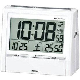 SEIKO セイコー 音声電波目覚まし時計 置時計 TALK LINER トークライナー DA206W 白パール塗装 セイコー置き時計/電波めざまし時計/電波目ざまし時計/電波目覚し時計/温湿時計/電波時計