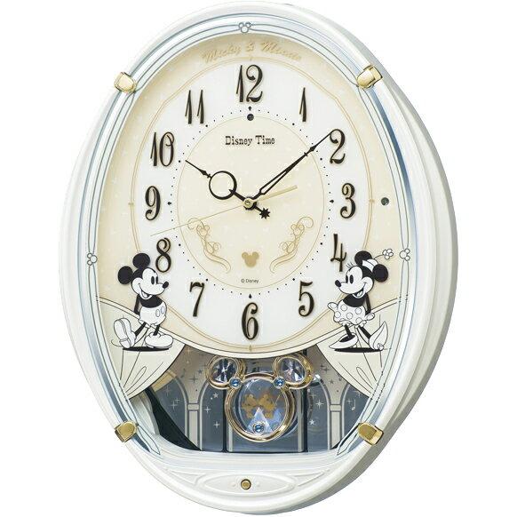 FW579W 壁掛時計 SEIKO セイコー ディズニータイム ミッキー&フレンズ 壁掛け時計 電波時計 電波掛け時計 電波掛時計 壁掛時計 かけ時計 壁掛け電波時計 電波壁掛け