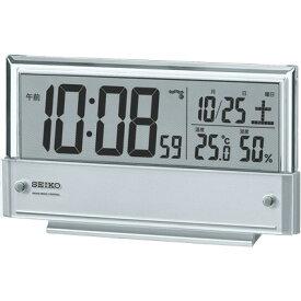 SQ773S デジタル電波置時計 SEIKO セイコー 置き時計 電波時計 電波置き時計 電波置時計 おき時計 卓上時計 卓上電波時計 テーブルクロック デスククロック