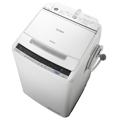 【時間指定不可】【離島配送不可】BW-V80C-W 全自動洗濯機 HITACHI 日立 ビートウォッシュ 洗濯・脱水容量8kg BWV80CW ホワイト 【送料無料(北海道1000円沖縄12000円別途加算)】