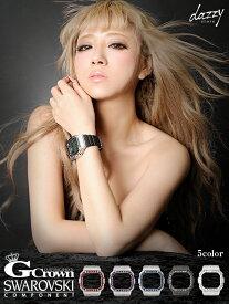 腕時計 レディース ブランド G-Crown スクエア タイプ G-SHOCK DW-5600 専用 ベゼル   ウォッチ ゴールド 金色 ラインストーン アクセサリー ジュエリー 女性 用 大人 かわいい 時計 ビジュー バンドウォッチ