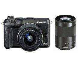 キヤノン / CANON EOS M6 ダブルズームキット [ブラック] 【デジタル一眼カメラ】【送料無料】