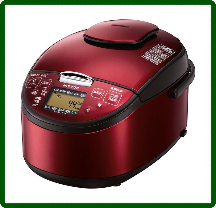 炊飯ジャー HITACHI 圧力スチームIH炊飯器 5.5合 レッド RZ-SG10J-R【送料無料】