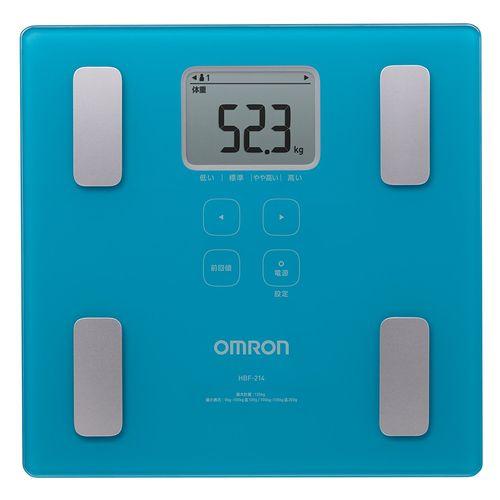 オムロン 体重体組成計 カラダスキャン HBF-214-B ブルー ギフト プレゼント 母の日 父の日 敬老の日 健康管理 体重 体脂肪 基礎代謝 BMI 骨格筋率 体年齢