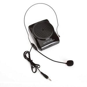 Koolertron New Online N74 ハンズフリー・コンパクト・充電式ポータブル拡声器 マイクロスピーカー 講義や講演・店頭・演説・ツアーコンダクター・スポーツインストラクターなどに ブラッ
