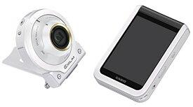 【キャッシュレス5%還元対象】CASIO デジタルカメラ EXILIM EX-FR100LWE カメラ部/モニター部分離 セルフィーが簡単 3つのこだわり自分撮り機能