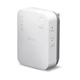 【キャッシュレス5%還元対象】BUFFALO WiFi 無線LAN 中継機 WEX-733DHP/N 11ac 433+300Mbps コンセント直挿しモデル 簡易パッケージ