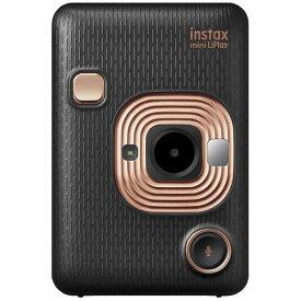 FUJIFILM チェキカメラ ハイブリッドインスタントカメラ instax mini LiPlay エレガントブラック