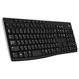 Logicool ロジクール フルサイズ 薄型 ワイヤレスキーボード テンキー付 耐水 静音設計 USB接続 ボード Unifying対応レシーバー採用 K270