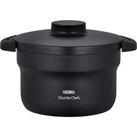 サーモス 真空保温調理器 シャトルシェフ 2.8L (3~5人用) ブラック 【調理鍋ふっ素コーティング加工】 KBJ-3000 BK