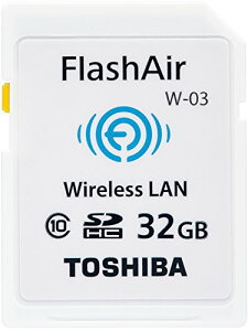 東芝 SDHCメモリカード FLashAir 32GB SD-WE032G