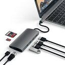 【1月25日限定 全商品ポイント3倍】Satechi V2 マルチ USB ハブ Type-C パススルー充電 4K HDMI出力 カードリーダー U…