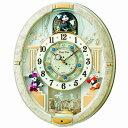 【お買い物マラソンで使えるクーポン配布中!さらにポイント2倍!】【送料無料】SEIKO CLOCK(セイコークロック) Disneyからくり時計(白) FW57...