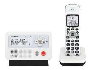 Pioneer DECTフルコードレス留守番電話 ホワイトブラック TF-FD30S-WK【送料無料】