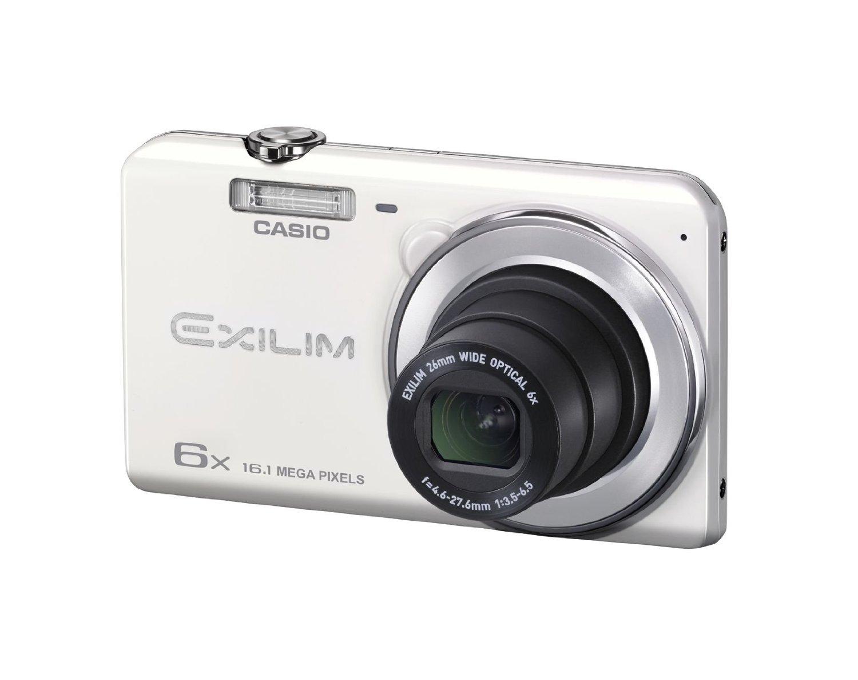 CASIO デジタルカメラ EXILIM EXZS26WE 1610万画素 光学6倍ズーム 広角26mm EX-ZS26WE ホワイト【送料無料】