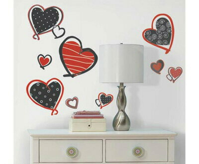 【ポイント10倍】▼ウォールステッカー モッド ハート★Mod Hearts ルームメイツ▼(RoomMates ルームメイツ 簡単 はがせる 楽しい 雰囲気) ▼ルームメイツ▼