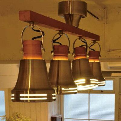 【送料無料★ポイント10倍】ELUX 照明 Lu Cerca▼エルックス Wood Bell(ウッドベル)4灯シーリングスポットライト