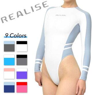REALISE (N-015) 超薄材料 highleg 长袖回赛车泳装服装正常