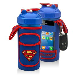 可愛いプロテインシェーカーカバー スーパーマン ワークアウトドリンクに! 筋トレ ウェイトトレーニング ボディビル フィジーク フィットネスビキニ パーソナルトレーニング 筋肉 ベンチプレス スクワット デッドリフト チンニング