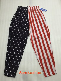 OTO MIX オートミックス バギーパンツ American Flag アメリカンフラッグ柄 ボディビルダー、筋トレ、ウエイトトレーニングに 星条旗 トレーニングウェア ロングパンツ