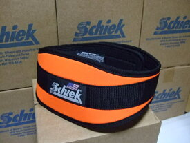 幅広タイプ Schiek シークリフティングベルト Model4006 オレンジ ウェイトトレーニングに最適! トレーニングベルト・ボディビル・筋トレ・腹圧を高めて腰痛予防に。