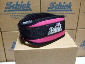 Schiek シーク リフティングベルト Model4004 ピンク 筋トレの必需品! 小さいサイズもあります ウエイトトレーニングに最適なトレーニングベルト パワー・フィッジーク・ボディビル・腹筋・背筋・腹圧を高めて腰痛予防に。