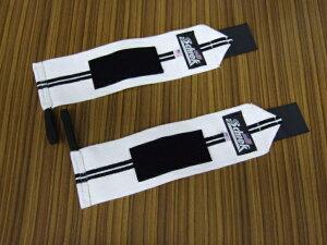 Schiek リストラップ 30cm ホワイト ブラックライン ベンチプレスの必需品 シーク 12インチ 白 筋トレ ウエイトトレーニング 手首の保護 リストサポーター リストバンド 筋肉 マッスル ビキ