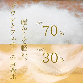 ダウン70%フェザー30%の黄金比