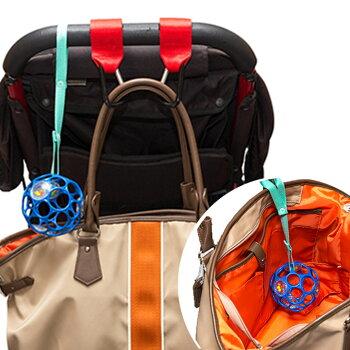 ベビーカーにもチャイルドシートにも、バッグにも持ち運びできて便利。