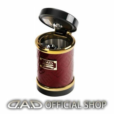 D.A.D LUXURY アッシュボトル タイプ モノグラムレザーエナメル ディープレッド/ゴールドGARSON ギャルソン DAD 4560318720794