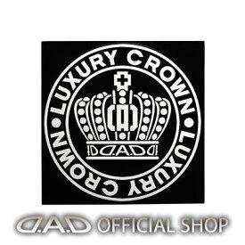D.A.D クラウンサークルステッカー Lサイズ【ホワイト】ST141-01 GARSON ギャルソン DAD