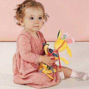 Lilliputiens リリピュション フラフープラトル / ジア   ラトル 人形 おでかけ 6か月から 1歳 キリン トイ おもちゃ 出産祝い TYLL83078