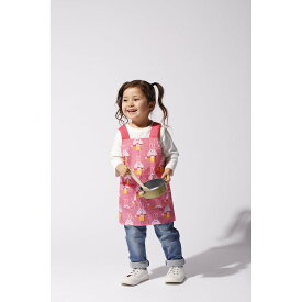 Solby ソルビィ キッズエプロン | エプロン キッズ かわいい 子供 男の子 女の子 幼児 幼稚園 保育園 保育園 2歳 3歳 4歳 5歳 ボタン 調節 動物 アニマル