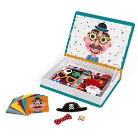 Janod ジャノー マグネット ブック ボーイズフェイス | プレゼント ギフト マグネットブック 3歳 4歳 5歳 磁石 マグネットピース 子ども キッズ おもちゃ 顔 フェイス おしゃれ かわいい カラフル おでかけ