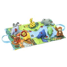 K's Kids ケーズキッズ アニマル イン ジャングル | ギフト プレイマット 布 布製 おもちゃ 動物 知育 6ヶ月 0歳 半年 1歳 動物 アニマル 子ども キッズ 赤ちゃん ベビー かわいい カラフル