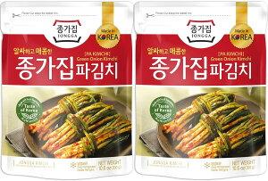 韓国No.1キムチ 韓国 キムチ 送料無料 ねぎキムチ 300g × 2個 おつまみ ご飯のお供 ご飯のおとも チョンガ 韓国キムチ 宗家 デサンジャパン 韓国食品 公式
