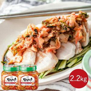 韓国No.1キムチ 韓国 キムチ 送料無料 おつまみ ご飯のお供 ご飯のおとも チョンガ 韓国キムチ 宗家 1.1kg × 2個 デサンジャパン 韓国食品 公式
