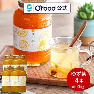 ゆず茶 4本 4kg 韓国 はちみつ 柚子茶 ゆず茶 4個セット デサンジャパン 大象 ジャパン