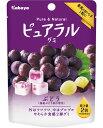 【カバヤ食品】100円 ピュアラルグミ〈ぶどう〉(8袋入)