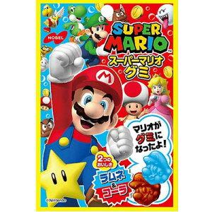 【ノーベル製菓】100円 スーパーマリオグミ〈ラムネ&コーラ〉(6袋入)