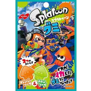 【ノーベル製菓】100円 スプラトゥーングミ〈オレンジソーダ&メロンソーダ〉(6袋入)