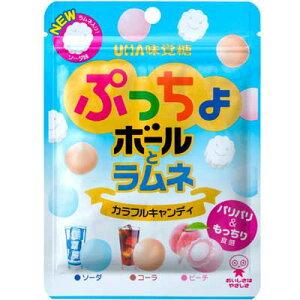 【UHA味覚糖】ぷっちょボールとラムネ カラフルキャンディ(6袋入)     {ミニサイズ キャンディ あめ}