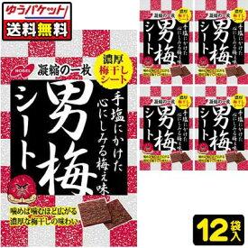 【ゆうパケット便】【送料無料】【ノーベル製菓】男梅シート27g×12袋